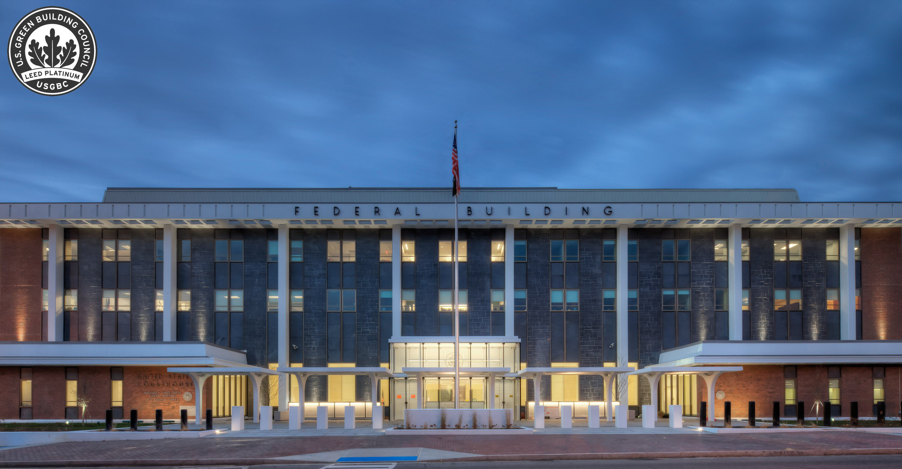 U.S. General Services Administration's Margaret Chase Smith Federal Building, Bangor, ME – photography by Christopher Barnes